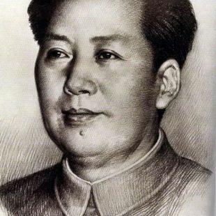 毛泽东素描画001(作者刘文西)