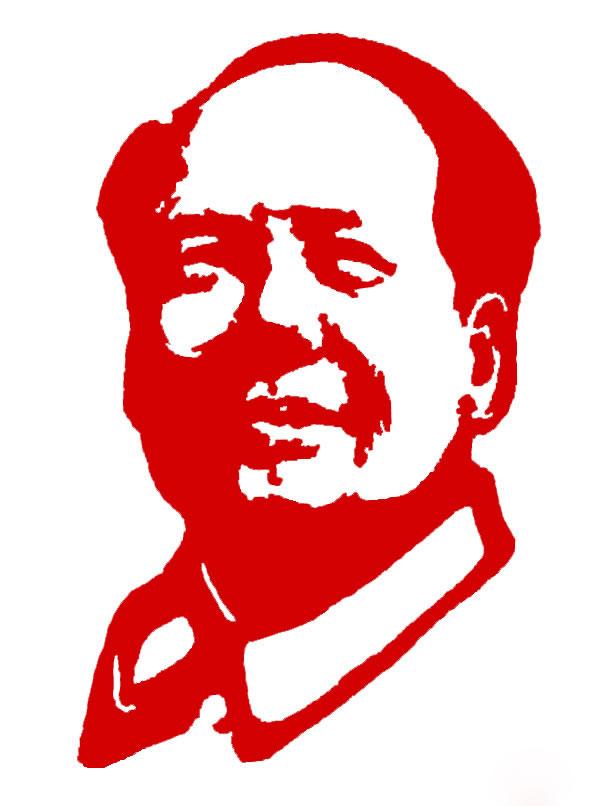 剪纸画——毛主席头像